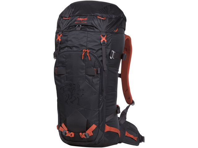 1883bd237ef0a Bergans Helium Pro 40 Backpack Solid Charcoal Koi Orange